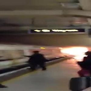 Fire in London train station causes evacuation