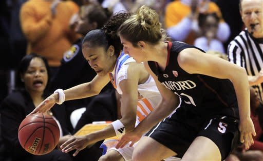 No. 1 Stanford topples No. 10 Tennessee 73-60