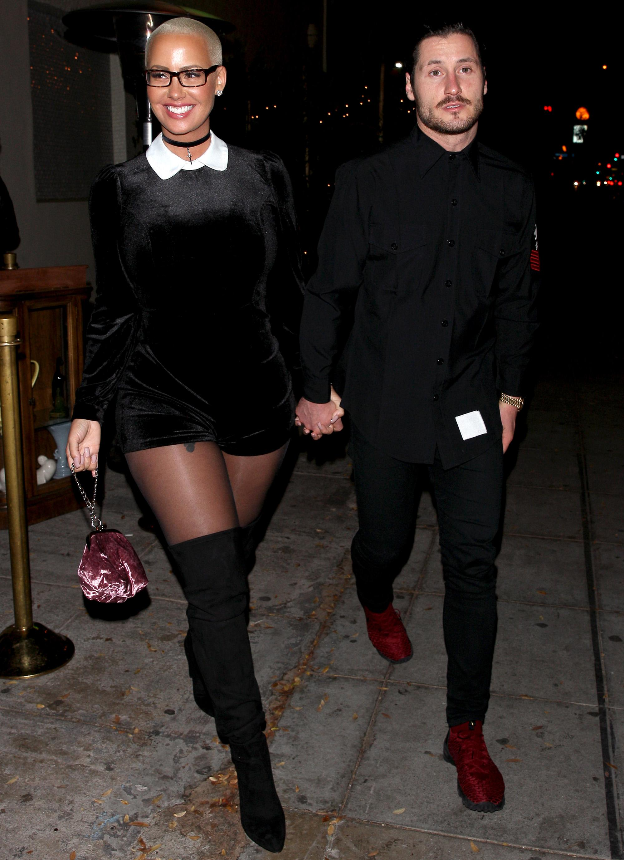 Amber Rose and Val Chmerkovskiy Hold Hands in Los Angeles