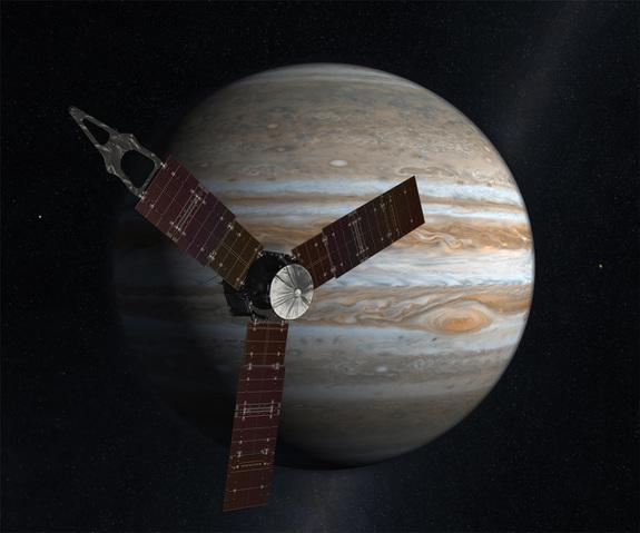 NASA's Jupiter-Bound Juno Spacecraft Buzzes Earth Today: Watch It Live