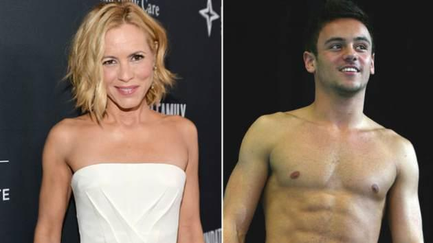 Maria Bello / Tom Daley -- Getty Images