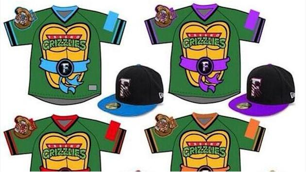Baseball - Cowabunga! Baseball team to wear Ninja Turtle themed shirts