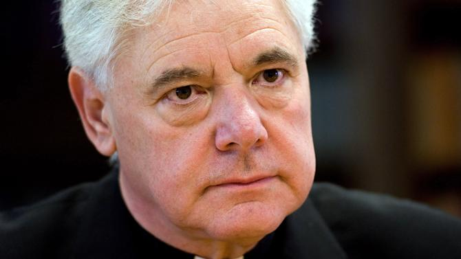 FILE - In this April 4, 2011 file photo German bishop Gerhard Ludwig Mueller listens during an interview in Regensburg, Germany. On Monday, July 2, 2012 the pope has named Bishop Mueller to head the Vatican's all-important orthodoxy office, tapping a German theologian like himself to head the congregation he presided over for nearly a quarter-century enforcing Catholic doctrine. (AP Photo/dapd, Lennart Preiss, File)