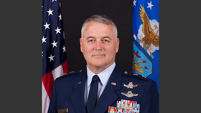 This undated handout photo provided by the U.S. Air Force shows Maj. Gen. Michael J. Carey. The Air Force is firing Carey, the two-star general in charge of all of its nuclear missiles, in response to an investigation into alleged personal misbehavior, officials told The Associated Press on Friday, Oct. 11, 2013. Carey is being removed from command of the 20th Air Force, which is responsible for three wings of intercontinental ballistic missiles — a total of 450 missiles at three bases across the country, the officials said. (AP Photo/U.S. Air Force)