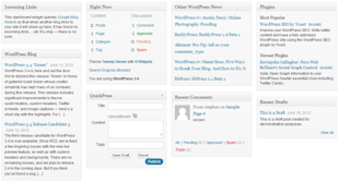 Understanding and Customising the WordPress Dashboard image wordpress dashboard 4 columns 002 578x311