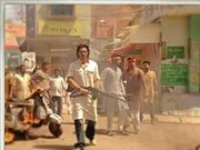 Arjun Rampal in action on the sets of SATYAGRAHA