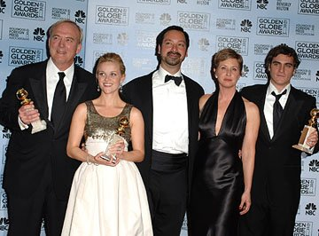 James Keach, Reese Witherspoon, James Mangold, Cathy Konrad, and Joaquin Phoenix