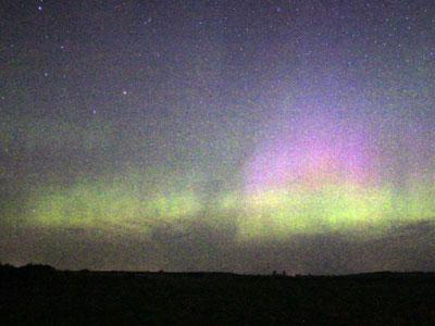 Raw Video: Aurora Boreals in time-lapse