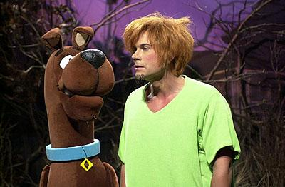 "Rob Lowe as Warren ""Shaggy"" Shagowski with Scooby-Doo on NBC's Saturday Night Live Saturday Night Live"