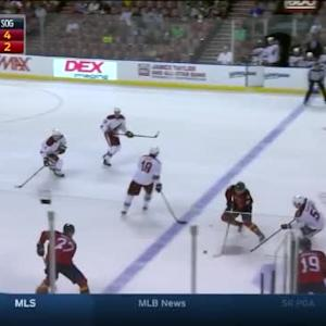 Mike Smith Save on Jonathan Huberdeau (07:24/1st)