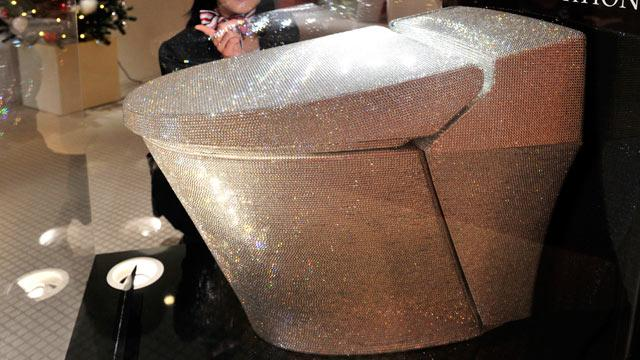 $128,000 Toilet Flush With Crystals