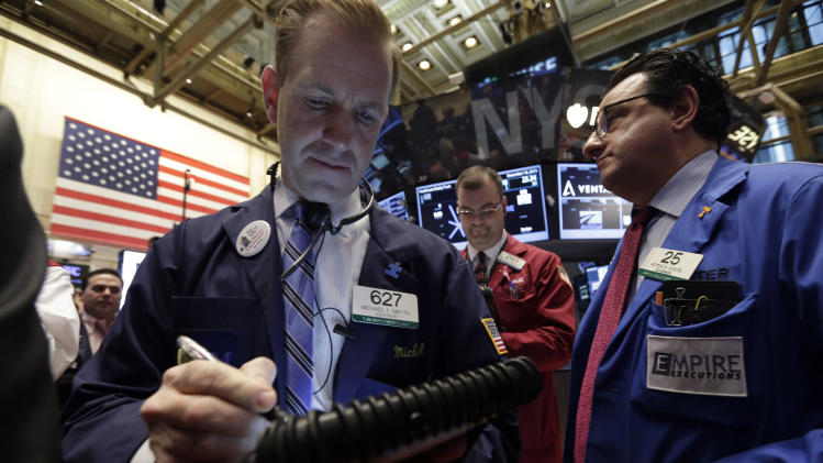 Stocks up on job market news; Bond yields rise
