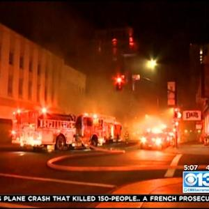 Vacant Hotel in Downtown Sacramento Catches Fire