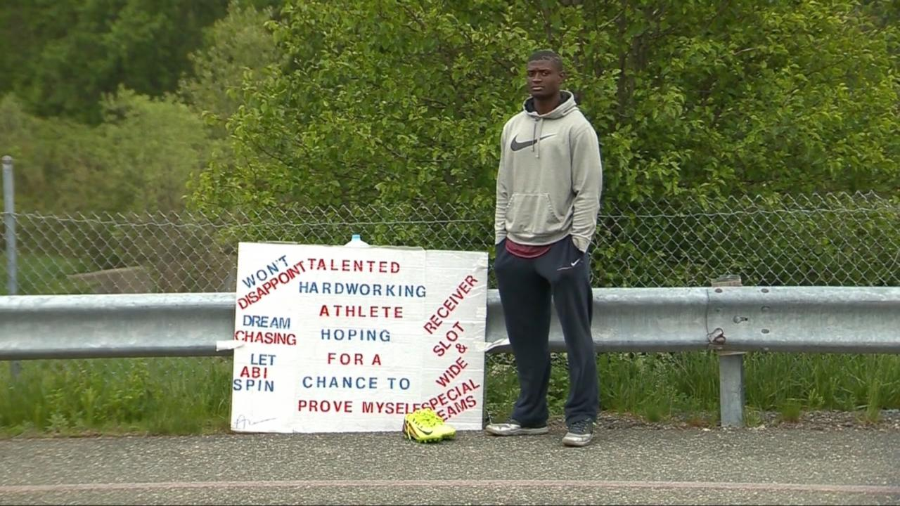 NFL Hopeful Stands Outside Patriots' Stadium for Over a Month for Chance to Try Out