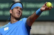 Top seed Juan Martin Del Potro, pictured in September 2012, marked his return to tennis after a month-long injury absence on Wednesday with a three-hour victory over German qualifier Daniel Brands to reach the Austrian Open third round