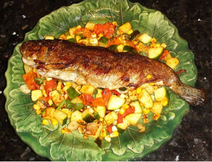 Pan-Fried Trout with Summer Vegetables