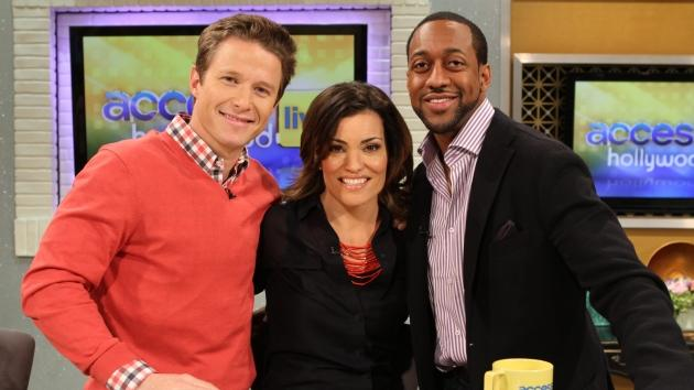 Billy Bush, Kit Hoover and Jaleel White smile on Access Hollywood Live on March 21, 2012 -- Access Hollywood