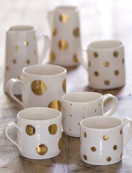 Gold Lustre Cups