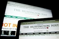 Computer screens featuring a page of the Huffington Post website in 2011. US news website The Huffington Post launched its Italian edition &quot;L&#39;Huffington Post&quot; on Tuesday as part of an international expansion that has has already taken it to Britain, Canada, France and Spain