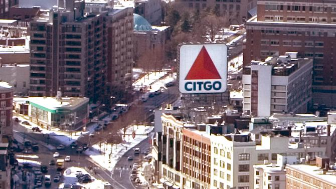 FILE - In this Feb. 13, 2006 file photo, Kenmore Square and the landmark Citgo sign are seen from the roof of the John Hancock Tower in Boston.  Venezuela's President Hugo Chavez is up for re-election in 2012 and is already in campaign mode: promising new public housing complexes, ordering renovations for the long-neglected Caracas subway and budgeting more money for education, health care and social programs. Looking for cash, he has raised the possibility of selling off Venezuela's U.S.-based oil company Citgo Petroleum Corp.  (AP Photo/Robert E. Klein, File)