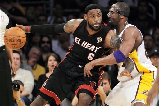 Kobe scores 33, Lakers beat Wade's Heat 93-83