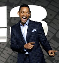 "Actor Will Smith poses upon his arrival for a press conference to promote his new movie ""Men in Black III"" in Seoul, South Korea, Monday, May 7, 2012. (AP Photo/Lee Jin-man)"