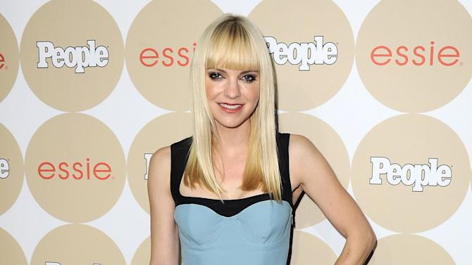 """FILE - In this Oct. 9, 2013 file photo, actress Anna Faris arrives at the People's Ones To Watch event in Los Angeles. Faris plays a mom on her new CBS series """"Mom"""" alongside Allison Janney. Though it's a comedy, Faris says it tackles more serious issues than she'd anticipated. (Photo by Jordan Strauss/Invision/AP, File)"""