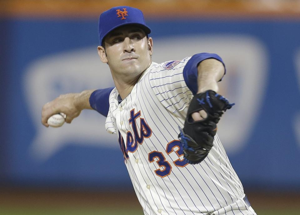 New York Mets' Matt Harvey delivers a pitch during the first inning of a baseball game against the Arizona Diamondbacks on Wednesday, July 3, 2013, in New York. (AP Photo/Frank Franklin II)
