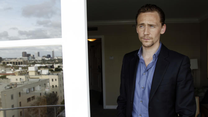 "In this April 12, 2012 photo, cast member Tom Hiddleston, from the upcoming film ""The Avengers"", poses for a portrait in Beverly Hills, Calif. The film will be released in theaters May 4, 2012. (AP Photo/Matt Sayles)"