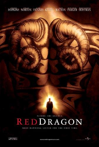 The original movie poster for Universal's Red Dragon