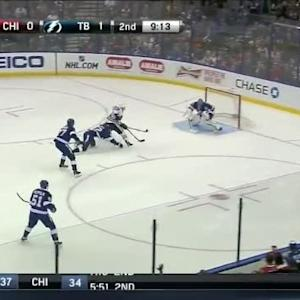 Ben Bishop Save on Brandon Saad (10:48/2nd)