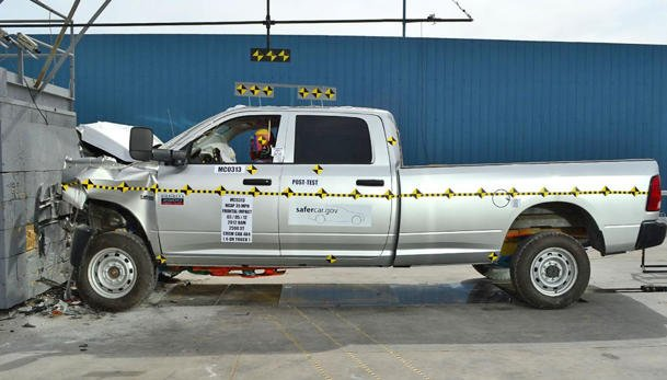 Ram 2500 front crash test