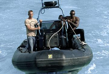 Paul Walker and Tyson Beckford in MGM/Columbia Pictures' Into the Blue
