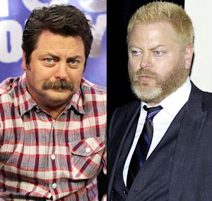 Parks and Recreation's Nick Offerman Goes Blond!