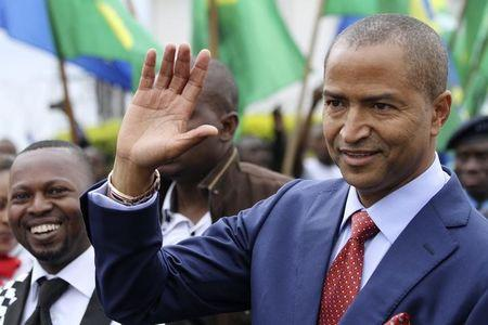 Moise Katumbi, governor of Democratic Republic of Congo's mineral-rich Katanga province, arrives for a two-day mineral conference in Goma