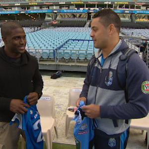NFL Fan Pass: Reggie Bush's rugby lesson