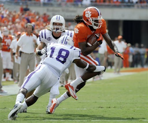 No. 11 Clemson beats Furman 41-7 in Watkins return