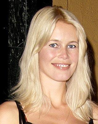 Claudia Schiffer at a Los Angeles screening of Screen Gems' Swept Away
