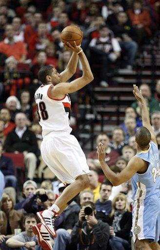 Batum scores 33 points to help Blazers top Nuggets