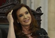 "Argentine President Cristina Fernandez de Kirchner at the Congress in Buenos Aires on March 1, 2013. A US appeals court in New York has told Argentina to spell out its offer to settle a suit by holders of defaulted bonds that Buenos Aires brands ""vultures,"" court documents showed Friday."