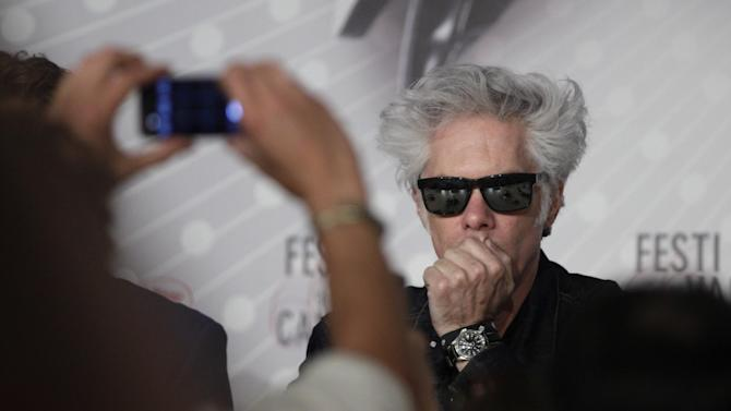 Director Jim Jarmusch is photographed prior to a press conference for the film Only Lovers Left Alive at the 66th international film festival, in Cannes, southern France, Saturday, May 25, 2013. (AP Photo/Virginia Mayo)