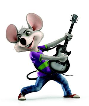 """This undated handout image provided by CEC Entertainment Inc. shows an image from the company's new Chuck E. Cheese, national ad campaign. The company that operates the chain of children's pizza restaurants is retiring the giant rodent's outdated image and the man who voiced its character for nearly two decades. According to ShowBizPizza.com, a Chuck E. Cheese fan site, the man who voiced the mascot in commercials since 1993 learned of his replacement only after coming across """"Chuck's Hot New Single"""" online and realizing it was sung by someone else. (AP Photo/CEC Entertainment Inc)"""