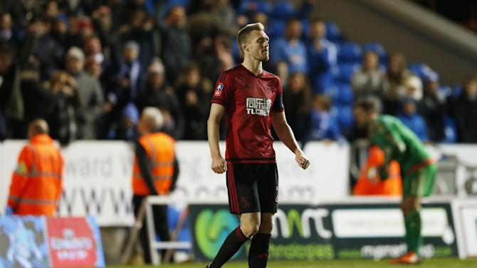 West Brom's Darren Fletcher looks dejected after he misses during the penalty shootout