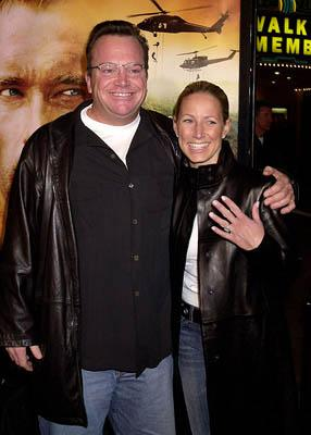 Tom Arnold and fiance Shelby at the Westwood premiere of Collateral Damage