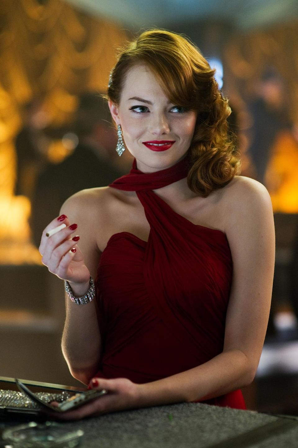 "This film image released by Warner Bros. Pictures shows Emma Stone, as Grace Faraday in ""Gangster Squad."" (AP Photo/Warner Bros. Pictures, Wilson Webb)"