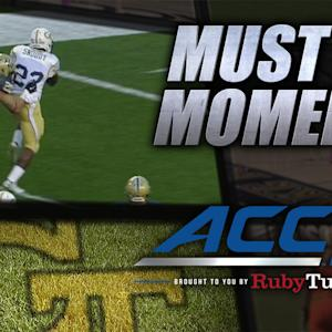Georgia Tech's Broderick Snoddy Shrugs Off Defenders for TD Run | ACC Must See Moment