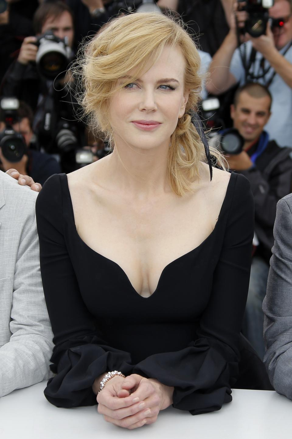 Jury member Nicole Kidman poses for photographers during a photo call for the jury at the 66th international film festival, in Cannes, southern France, Wednesday, May 15, 2013. (AP Photo/Francois Mori)