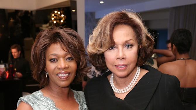 IMAGE DISTRIBUTED FOR REMY MARTIN - Alfre Woodard, left, and Diahann Carroll attend a dinner honoring Carroll hosted by Woodard and Remy Martin on Wednesday, Feb. 20, 2013, in Beverly Hills, Calif. (Photo by Casey Rodgers/Invision for Remy Martin/AP Images)