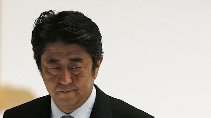 Japan's PM Abe attends a memorial ceremony marking the 68th anniversary of Japan's defeat in World War Two, in Tokyo