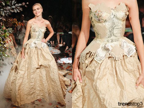 Upcycled paper dress